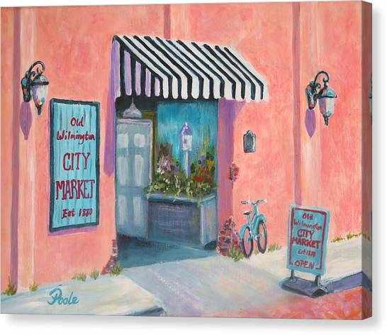 Old Wilmington City Market  Canvas Print