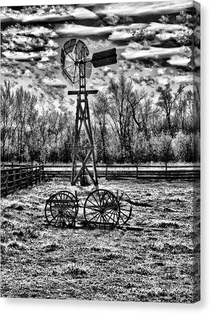 Old Windmill 2 Canvas Print by Dennis Sullivan