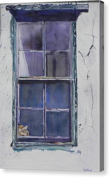 Old Window And New Home Canvas Print