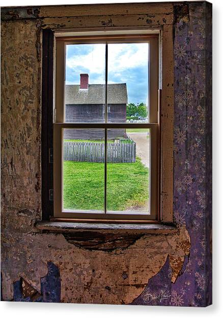 Canvas Print featuring the photograph Old Window by David A Lane