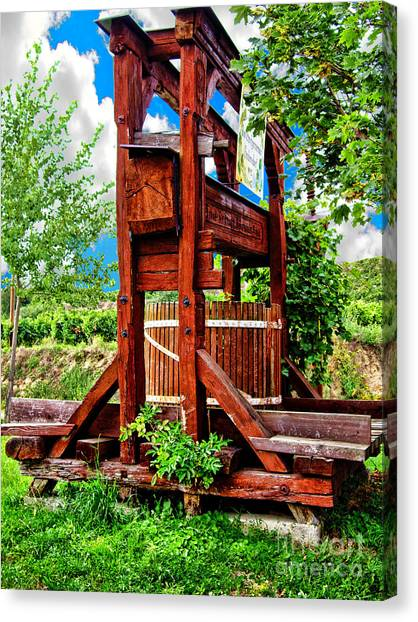 Old Wine Press Canvas Print