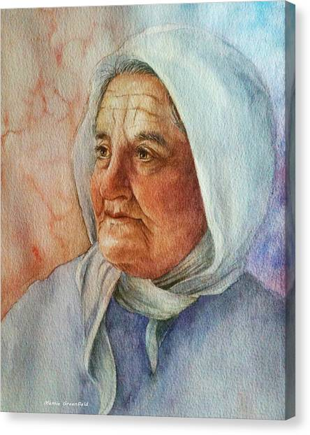Old Woman Canvas Print
