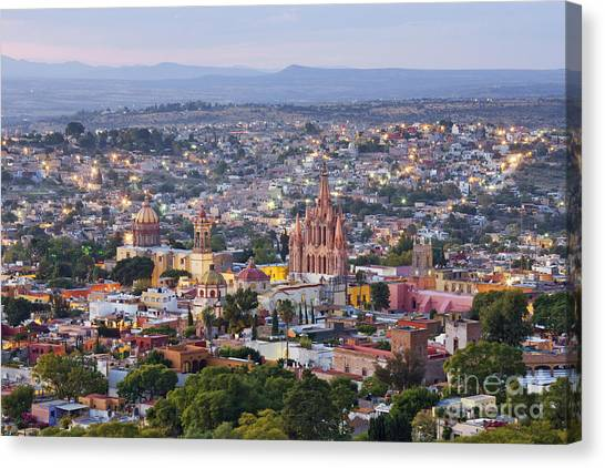 San Miguel De Allende Canvas Print - Old World City Skyline by Jeremy Woodhouse