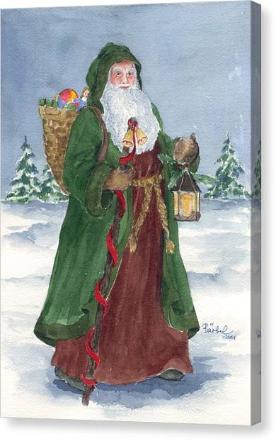 Old World Father Christmas Canvas Print