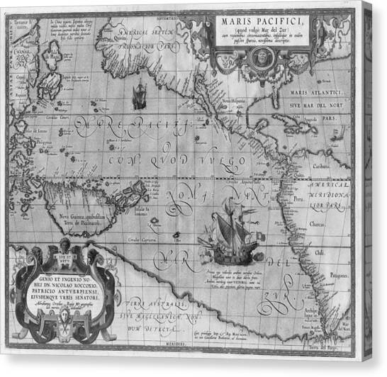 Ancient World Map Canvas Prints Fine Art America - Old world map black and white