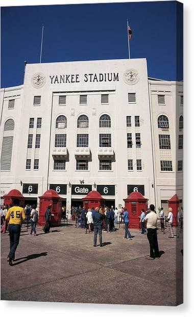 Old Yankee Stadium Last Game Canvas Print