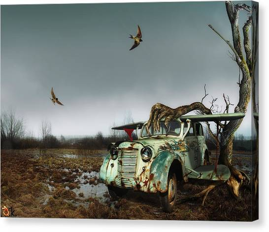 Old_bird Canvas Print by Alexander Kruglov