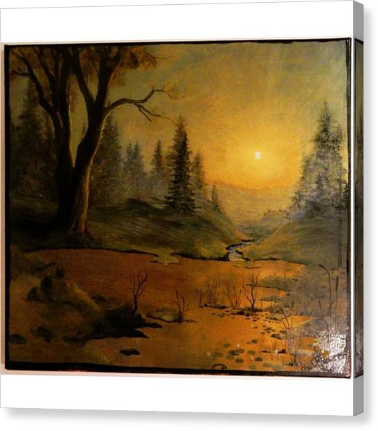 Romanticism Canvas Print - Older Painting Done Fall 2013 by Joachim Ingulstad