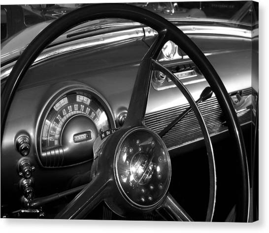 Canvas Print - Olds Dashboard by Audrey Venute