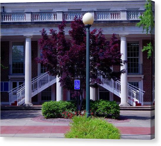 University Of Mississippi Ole Miss Canvas Print - Ole Miss Campus by Terry Cobb