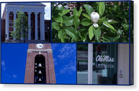 University Of Mississippi Ole Miss Canvas Print - Ole Miss Collage by Terry Cobb