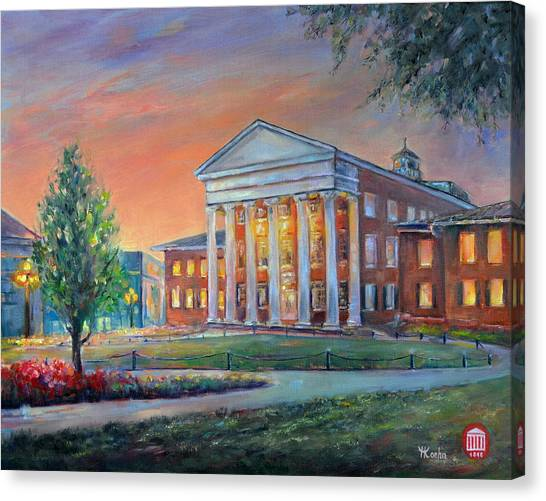 University Of Mississippi Ole Miss Canvas Print - Ole Miss Lyceum by Yelena Koehn