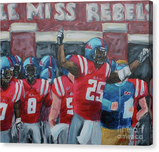 University Of Mississippi Ole Miss Canvas Print - Ole Miss Ready by Leslie Saucier