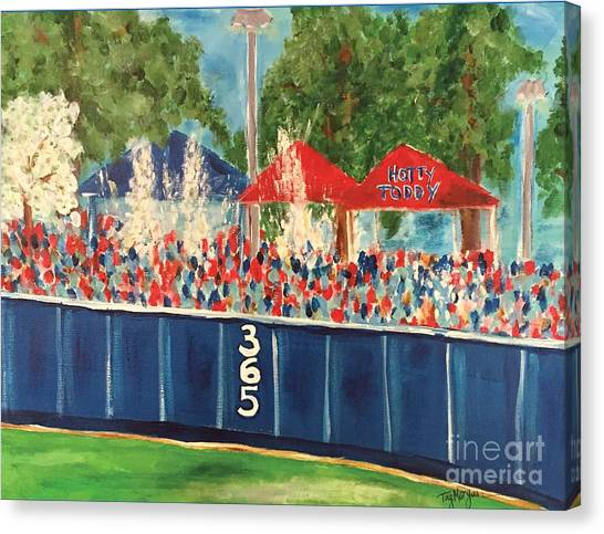 Sec Canvas Print - Ole Miss Swayze Beer Showers by Tay Cossar Morgan