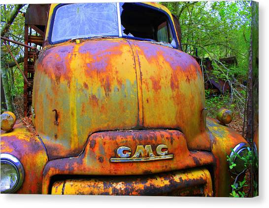 Rusty Truck Canvas Print - Ole Rusty Full Frontal by Dana Blalock