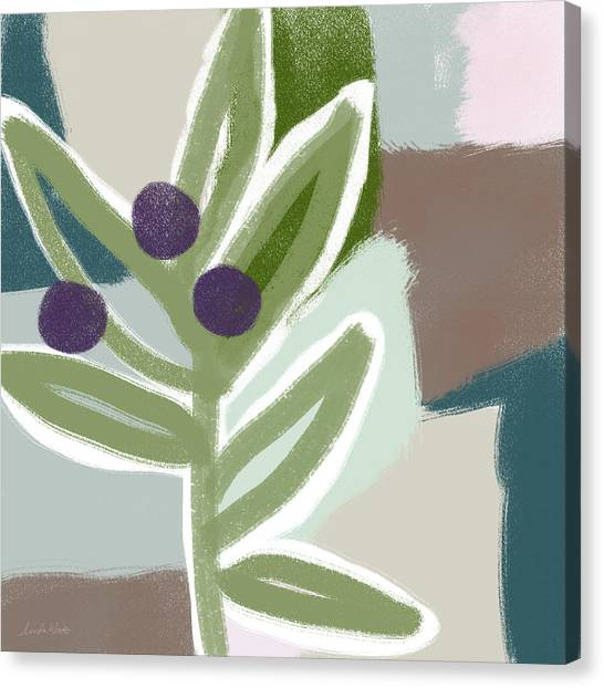 Oil Canvas Print - Olive Branch 1- Art By Linda Woods by Linda Woods
