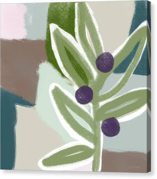 Oil Canvas Print - Olive Branch 2- Art By Linda Woods by Linda Woods
