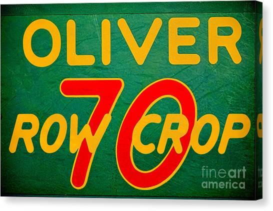 Vintage Canvas Print - Oliver 70 Row Crop by Olivier Le Queinec