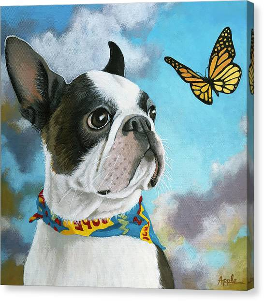 Oliver - Dog Pet Portrait Canvas Print