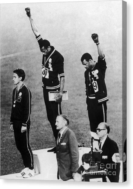 Black Canvas Print - Olympic Games, 1968 - To License For Professional Use Visit Granger.com by Granger