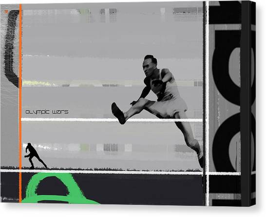 Acrobatic Canvas Print - Olympic Wars by Naxart Studio
