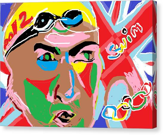 Olympics 2012 Swim Canvas Print