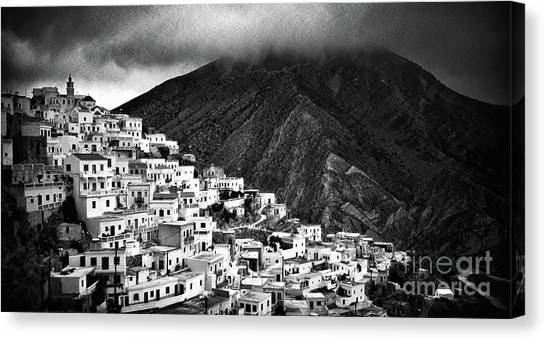 Olympos. Karpathos Island Greece Canvas Print