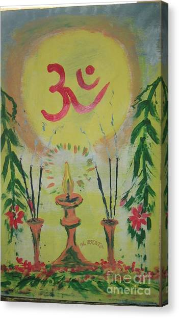 Om Immage For Memmory Canvas Print by m Bhatt