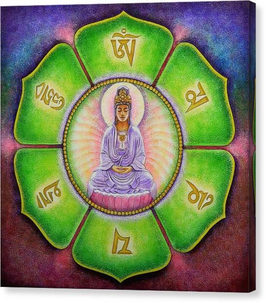 Om Mani Padme Hum Kuan Yin Canvas Print