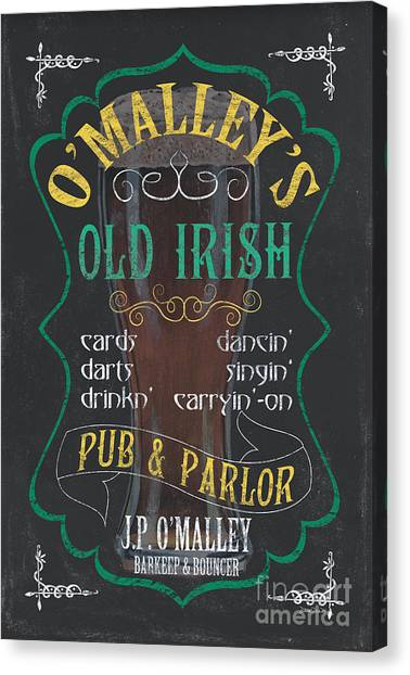 Pub Canvas Print - O'malley's Old Irish Pub by Debbie DeWitt