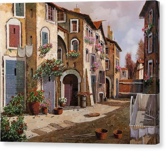 Villages Canvas Print - Ombre Per Strada by Guido Borelli