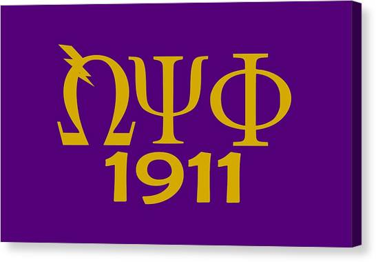 Omega Psi Phi Canvas Print - Omega Man by Sincere Taylor