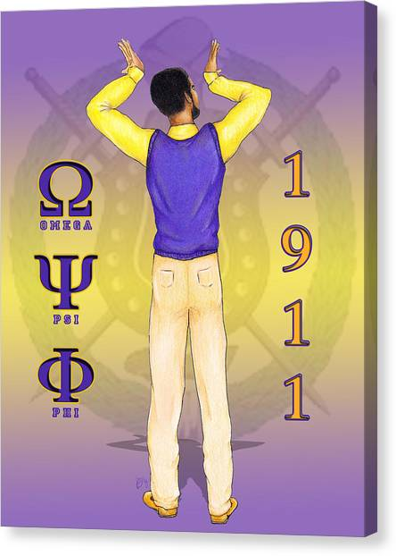 Omega Psi Phi Canvas Print - Omega Psi Phi by BFly Designs