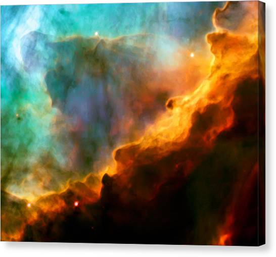 Outer Space Canvas Print - Omega Swan Nebula 3 by Jennifer Rondinelli Reilly - Fine Art Photography