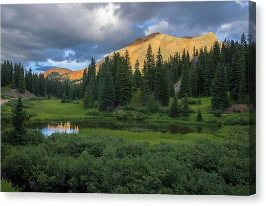 4x4 Canvas Print - Ominous Clouds Over Red Mountain Pass by Bridget Calip