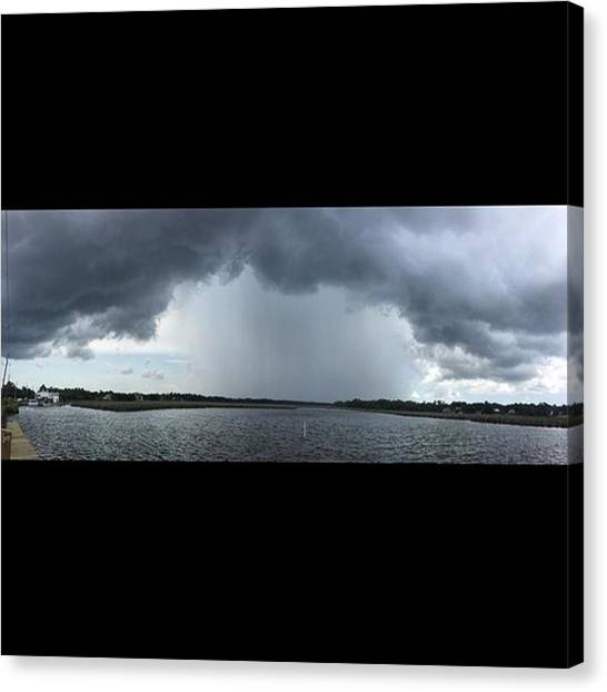 Storms Canvas Print - Ominous #enlight #pano #stormsacomin by Joan McCool