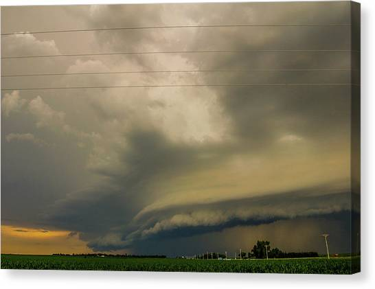 Canvas Print featuring the photograph Ominous Nebraska Outflow 007 by NebraskaSC