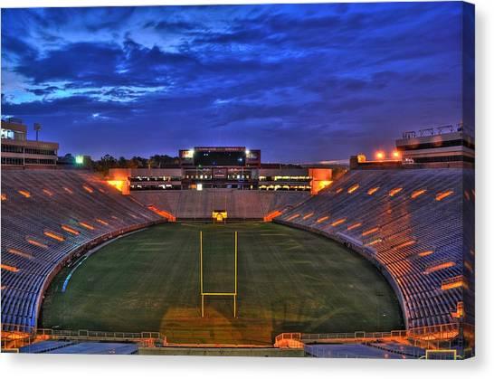 Ball State University Canvas Print - Ominous Stadium by Alex Owen