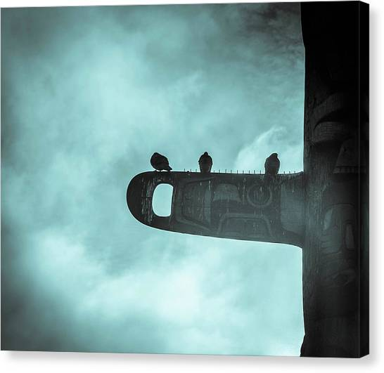 Ominously Seatlle  Canvas Print