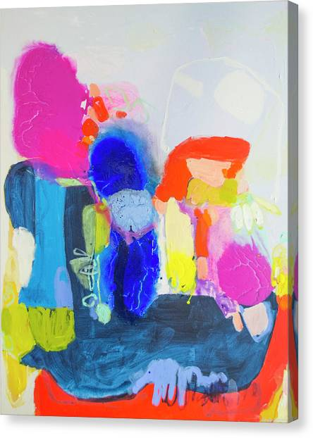 Canvas Print - On A Boat by Claire Desjardins