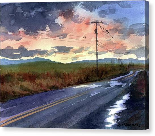 On A Road Side Canvas Print