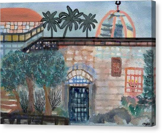 On A Street In Hebron Canvas Print by Sher Magins