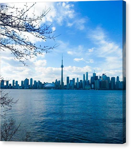 Toronto Skyline Canvas Print - On An Island In The Sun by Jessyca Scott