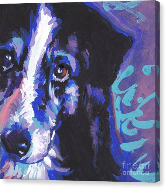 Border Collies Canvas Print - On Border by Lea S