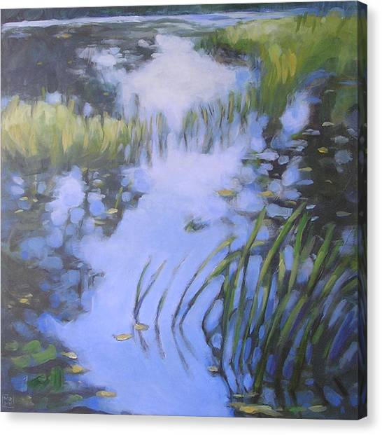 On Calm Reflection Canvas Print by Mary Brooking
