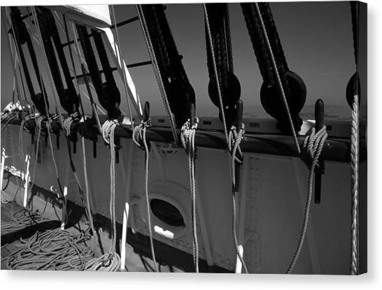 On Deck Starboard Side Canvas Print