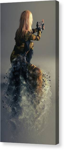 Soldiers Canvas Print - On Duty by Smart Aviation