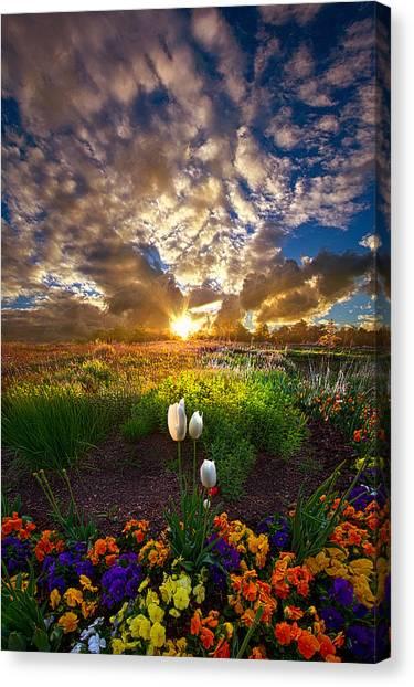 On Earth As It Is In Heaven Canvas Print