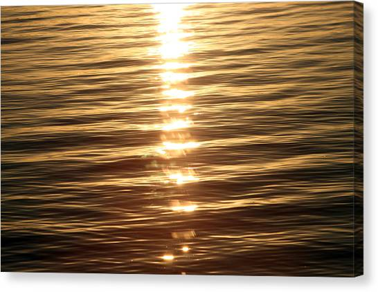 Canvas Print - On Golden Lake by Evelyn Patrick
