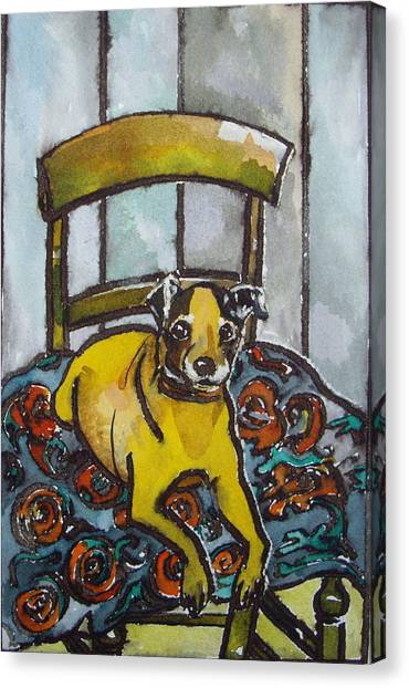 On His Masters Chair Canvas Print by Victoria Glover